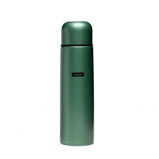Termo Acero Inoxidable Broksol 1 Litro con Tapón Cebador Verde