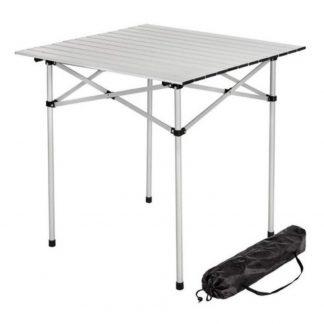 Mesa Plegable Camping Waterdog Aluminio Enrrollable