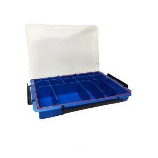 Caja de Pesca Azul 15 Divisiones Ajustables