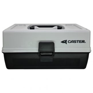 Caja de Pesca Caster 2 Bandejas 14 Divisiones Ajustables